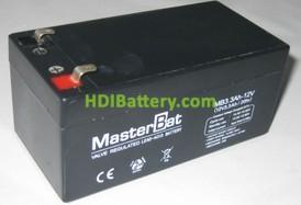 Batería para Alarma 12v 3,3Ah Plomo Agm